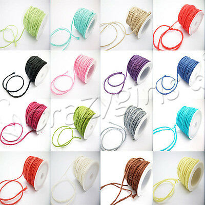 Rustic Natural Twisted Burlap Jute Cord For Wedding Gift Wrap Many Colors - Rustic Wedding Colors