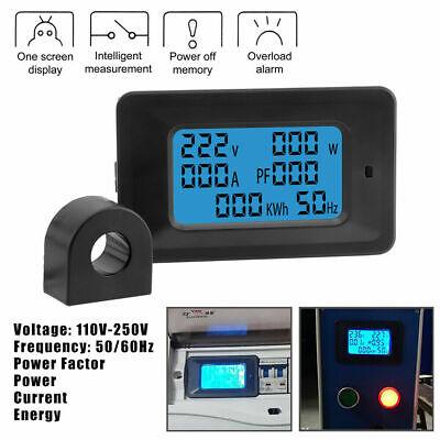 Lcd Digital Voltmeter Ac 110-250v 20100a Ammeter Volt Amp Power Kwh Panel Meter