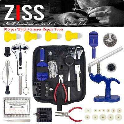 915pcs Watch Repair Tool Kit Spring Bar Tool Set Case Opener Watch Case Press
