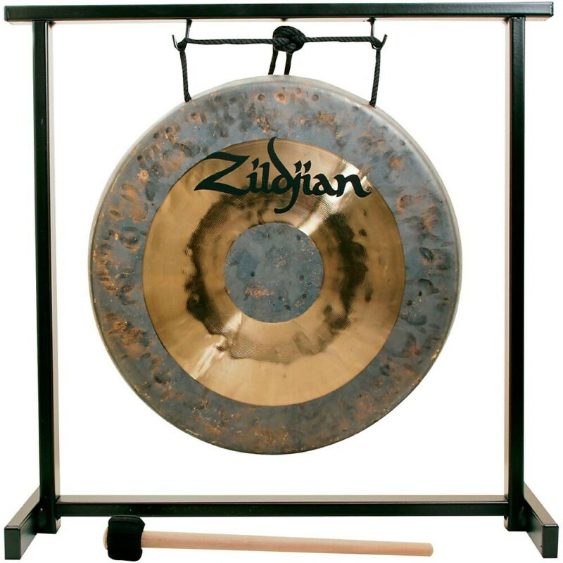 Zildjian 12 in. Traditional Gong and Table-Top Stand Set