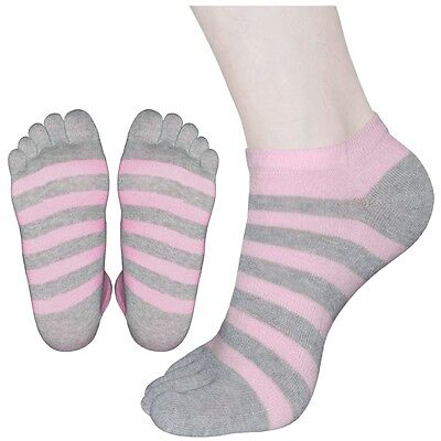 "5 Pairs Womens Comfy  Low-Cut Toe Socks G05 ""Skin contact surface is 100% cotton"