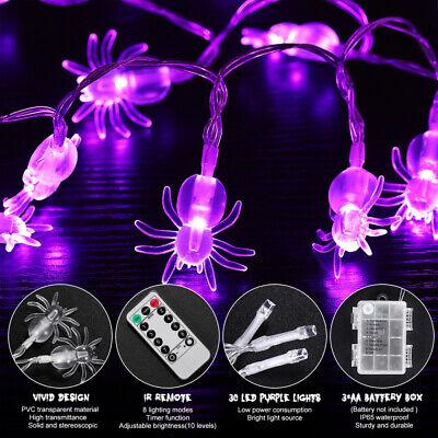 3.5 Meters Spider String Lights Waterproof String Lights for Halloween Courtyard