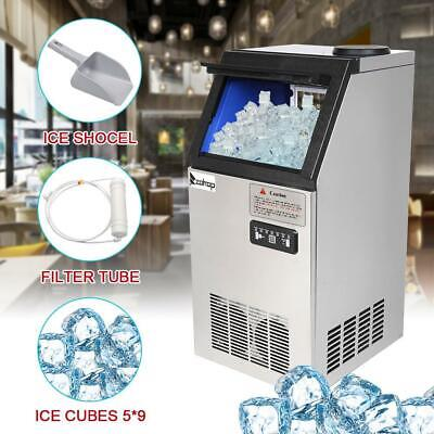 150lbs68kg Commercial Ice Maker Cube Stainless Steel Auto Freezer Bar Machine