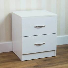 Brand new RIANO 2 DRAWERS WOOD CHEST METAL HANDLES