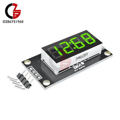 Green Tm1637 0.36 Inch 7-segment 4digit Led Display Clock Led Tube Board Module