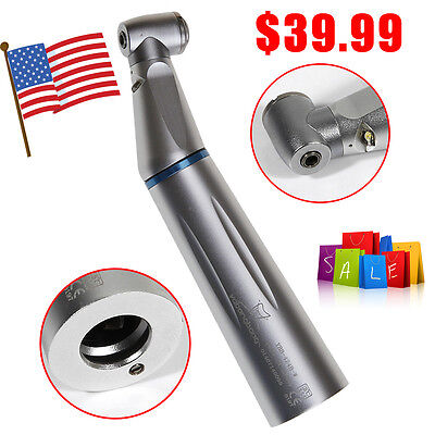 Usa Dental Fiber Optic Inner Water Led Low Speed Contra Angle Handpiece Push Yh