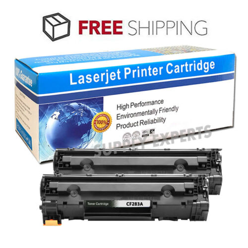 CF283A 83A Toner Cartridges Black for HP LaserJet Pro MFP M125a Printer 2 Pack