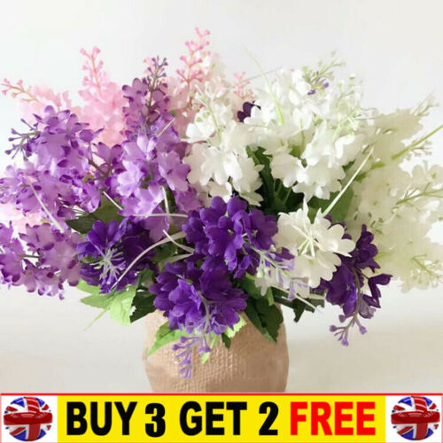 Home Decoration - Artificial Fake Real Touch Hyacinth Flowers Wedding Bouquet Home Party Decor