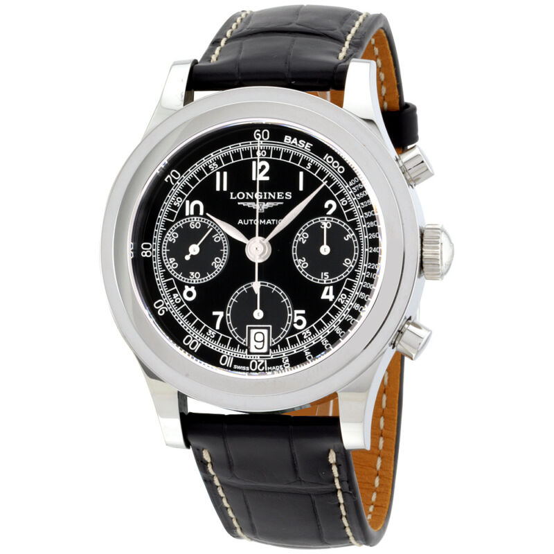 Longines Heritage Chronograph Automatic Men's Watch L27684532 - watch picture 1