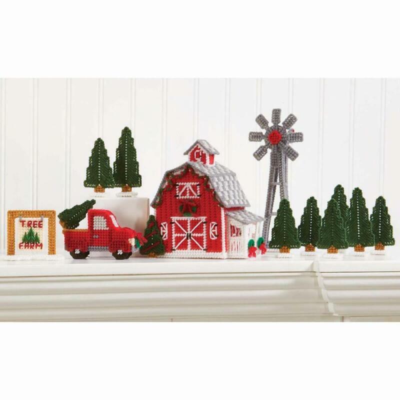 Herrschners® Christmas Village - Tree Farm Plastic Canvas Kit