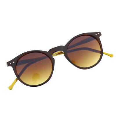 Brown Gangnam Psy Style Round Costume Sunglasses Key Hole Fashion - Psy Costume