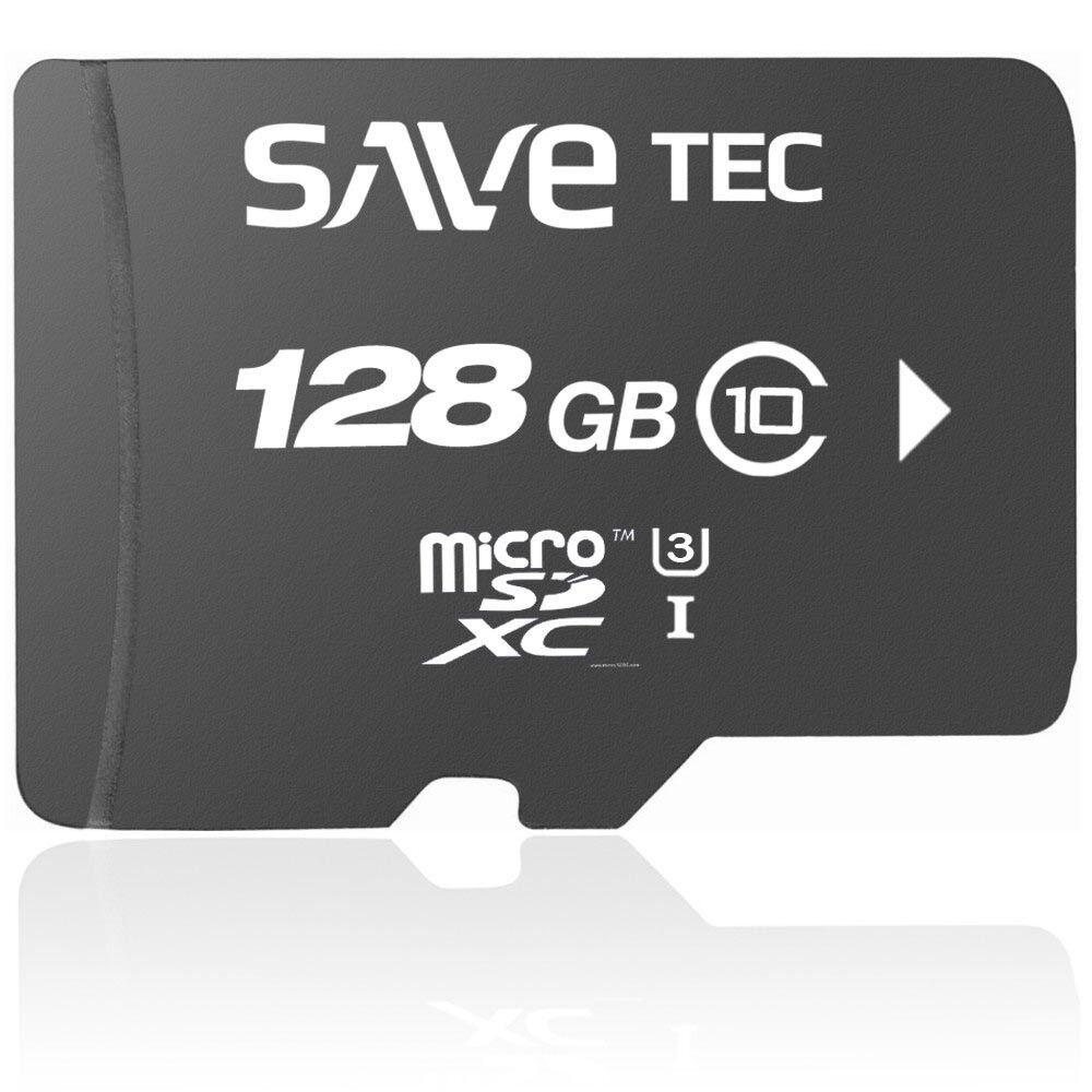 Savetec Speicherkarte 128GB micro SDXC Class 10 SD UHS-3 Ultra bis zu 100MB/s