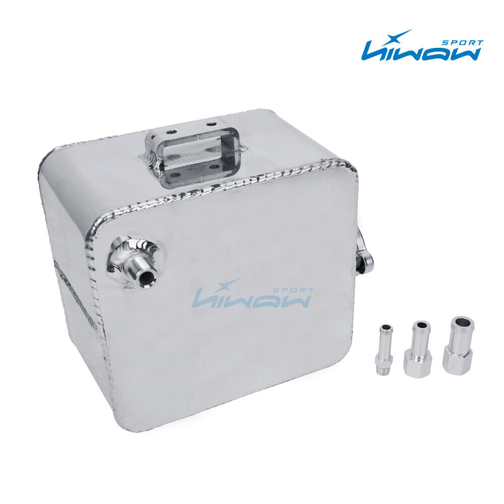 Aluminum Coolant Water Expansion Tank Bottle Header Universal Kit Car Silver