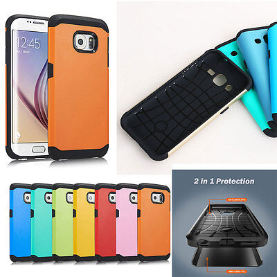 - Fashion Hard Bumper Hybrid Soft Rubber Skin Case Cover For Samsung Galaxy Models