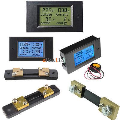Lcd Ac80-260vdc6.5100v 2050100a Combo Panel Display Volt Amp Powerwatt Meter