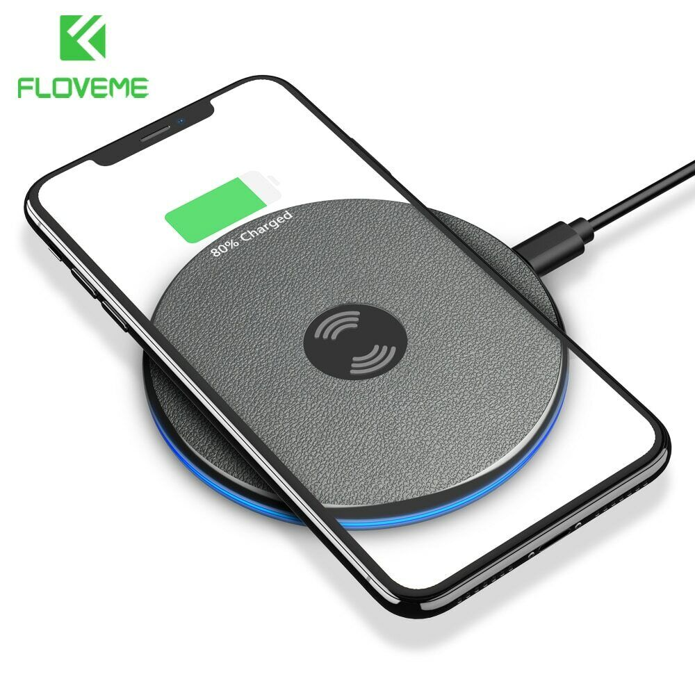 FLOVEME Qi Wireless Charger For iPhone X Xs Max Xr 8 Plus 9m