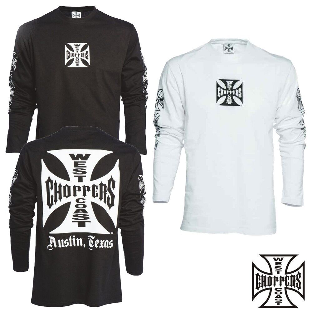 West Coast Choppers OG Cross Long Sleeve T-Shirt Shirt Langarm Jesse James NEU