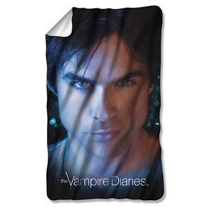 The Vampire Diaries Damon Eyes Fleece Throw Blanket 36x58