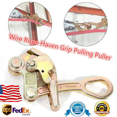 Light Cable Wire Rope Haven Grip Puller Pulling 2204lb Cable Puller Alloy Steel