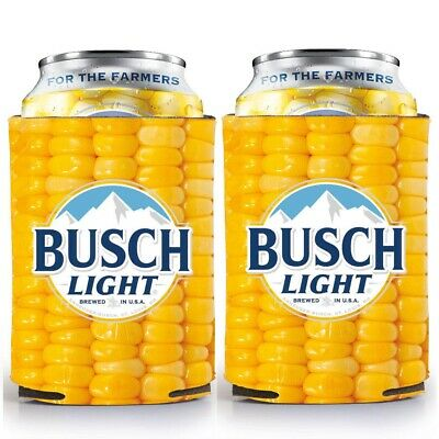 RARE - Busch Light Beer 'For the Farmers' CORN COB Can Cooler - Koozie Coolie
