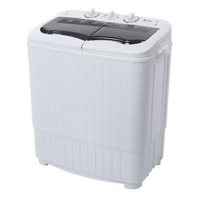 Portable Mini Compact Twin Tub Washing Machine 14.3lbs Washer Spin Spinner