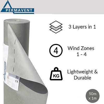Permavent Eco | Breather Membrane | Breathable Roofing Felt | 1m x 50m