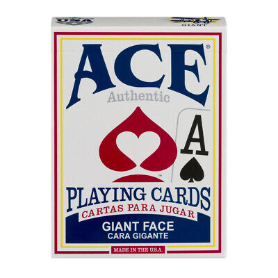 ACE Giant Face Playing Cards Assorted Color - Giant Cards