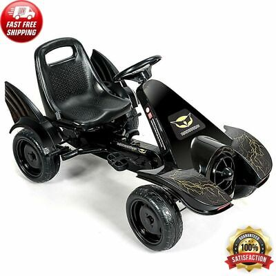 Pedal Car Go Kart Kids Ride On Toys Black Batman Lookalike Mobile Toddler Cars