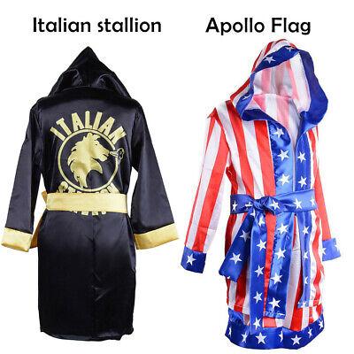 Rocky Balboa Movie Boxing Costume Robe and Shorts American Flag/Italian - Boys Boxing Robe
