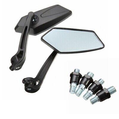 2 Rückspiegel Universal Spiegel für Motorrad KFZ ATV Quad Scoter Roller M8/M10 A