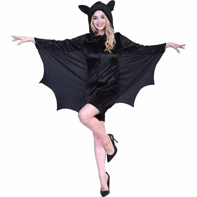 Adult Women Vampire Bat Outfits Halloween Fancy Dress Cosplay Jumpsuit Costume
