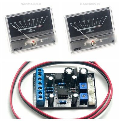 2pcs Tn90 Vu Meter Db Level Header W 1pc Power Supply Driver Board Ta7318p