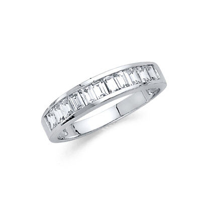14k White Gold 1.5 CT Baguette Channel Set Diamond Wedding Anniversary Band Bridal Channel Set Baguette