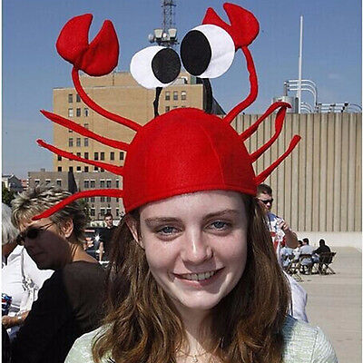 Unisex Novelty Lobster Crab Seafood Hat Costume Adult Kids Fish Cap Decor Gift (Lobster Hat)