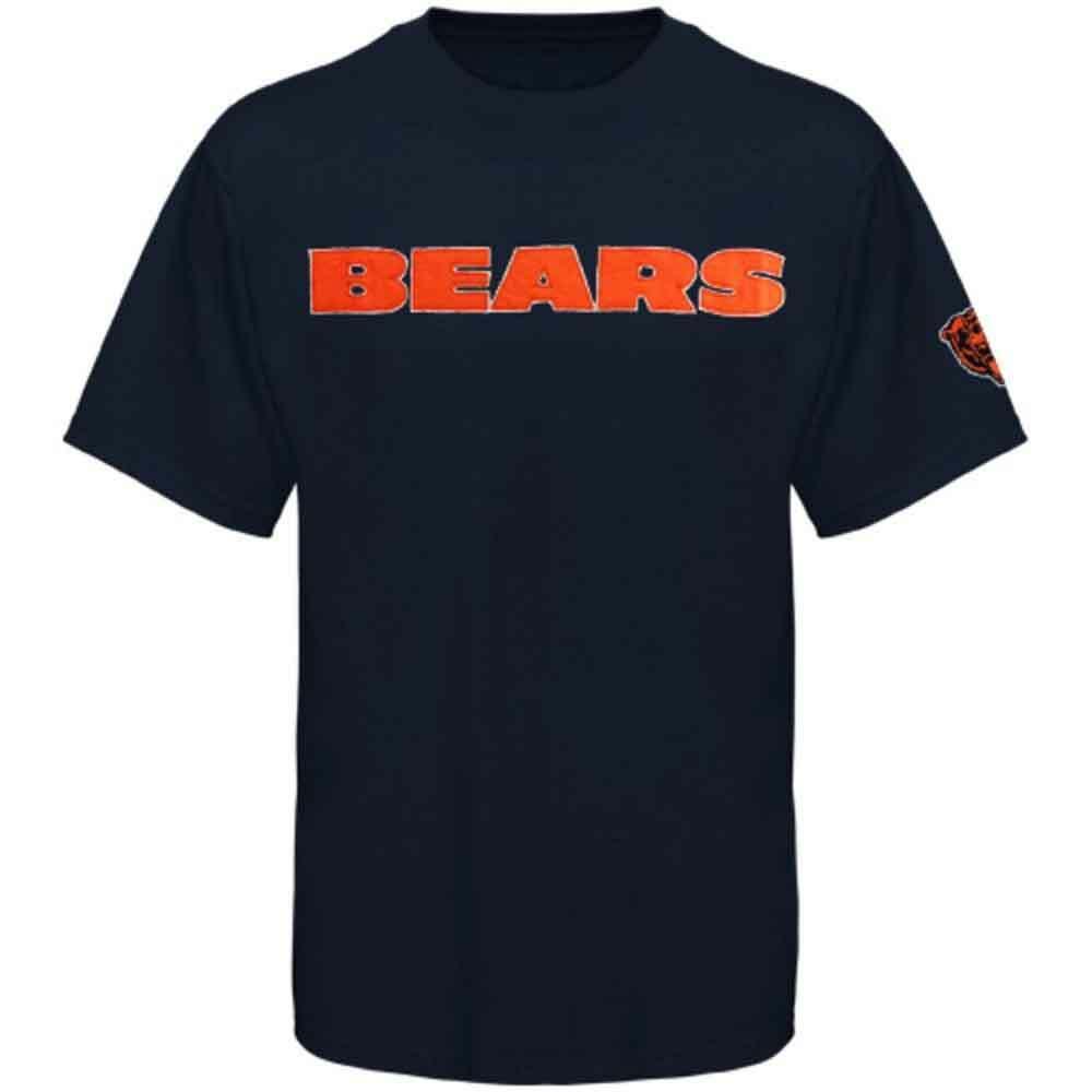 Chicago Bears T Shirt Soft Cotton Short Sleeve Navy Blue Authentic Men Mack NEW Fan Apparel & Souvenirs