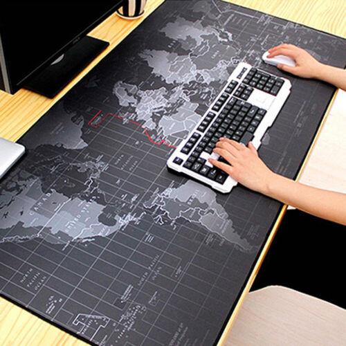 Anti Slip World Map Pattern Large Gaming Mouse Pad Keyboard Mat