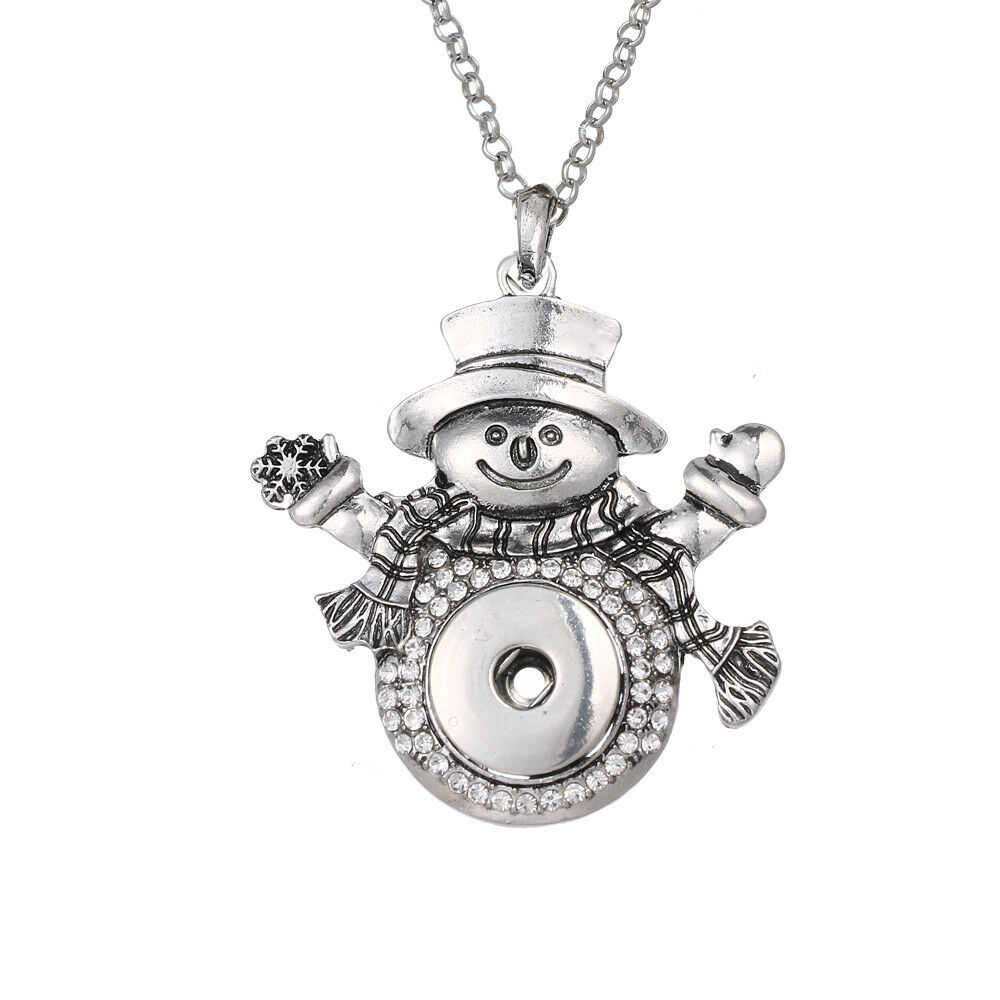 Hot Women Crystal Jewelry Necklace Pendant Fit 18mm Noosa Snap Button N166