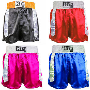 Boxing-Shorts-Trunks-Training-Sparring-MMA-Martial-Arts-Muay-Thai-Kick-S-M-L-XL