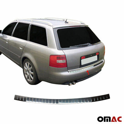 Fits Audi A6 Avant 1997-2004 Chrome Rear Bumper Guard Trunk Sill Cover S.Steel