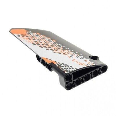 1x Lego Technic Panel Black Side B Fairing 18 Sticker 9398 Car 64682pb01