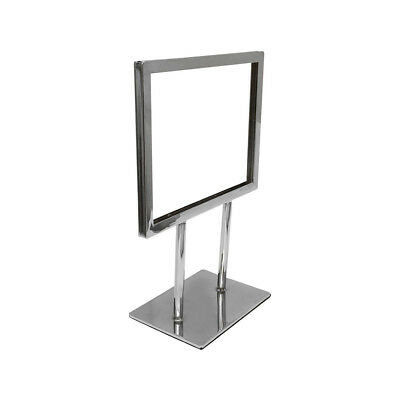 7-14 X 5-34 Chrome Plated Steel Counter Cardframe Display Fixture Retail Store