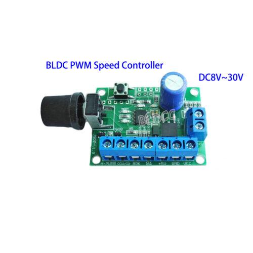 DC 12V/24V Brushless DC Motor Speed Regulator DC 8-30V BLDC PWM Speed Controller