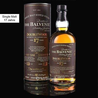 Balvenie 17 Jahre Double Wood Single Malt Scotch Whisky 43% 0,7l Schottland