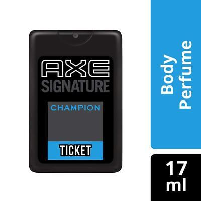 AXE Signature Champion Ticket Pocket Body Perfume for Men - 17ml Free Shipping