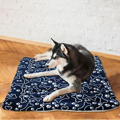 Soft Fleece Large Dog Cat Bed Puppy Dog Mat Cushion Mattress Basket Kennel