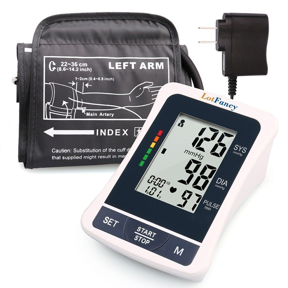 Купить LotFancy Medium Cuff - Automatic High Arm Blood Pressure Monitor BP Cuff Gauge Machine Tester Meter Kit