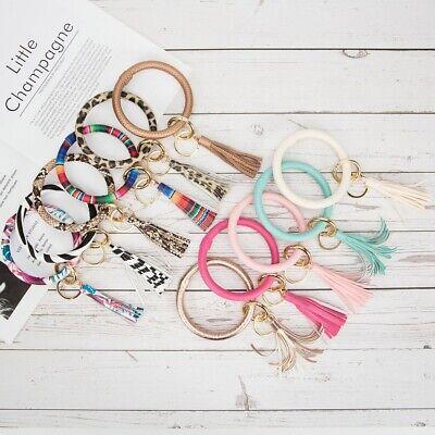 Luxury Leopard Keyring Bracelet Key Chain Key Ring Bangle Keychain & Tassel Gift