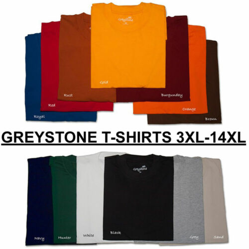 tshirts BIG and TALL Greystone T-Shirts HEAVY DUTY 3X 4X 5X 6X 7X 8X 10X 12X 14X