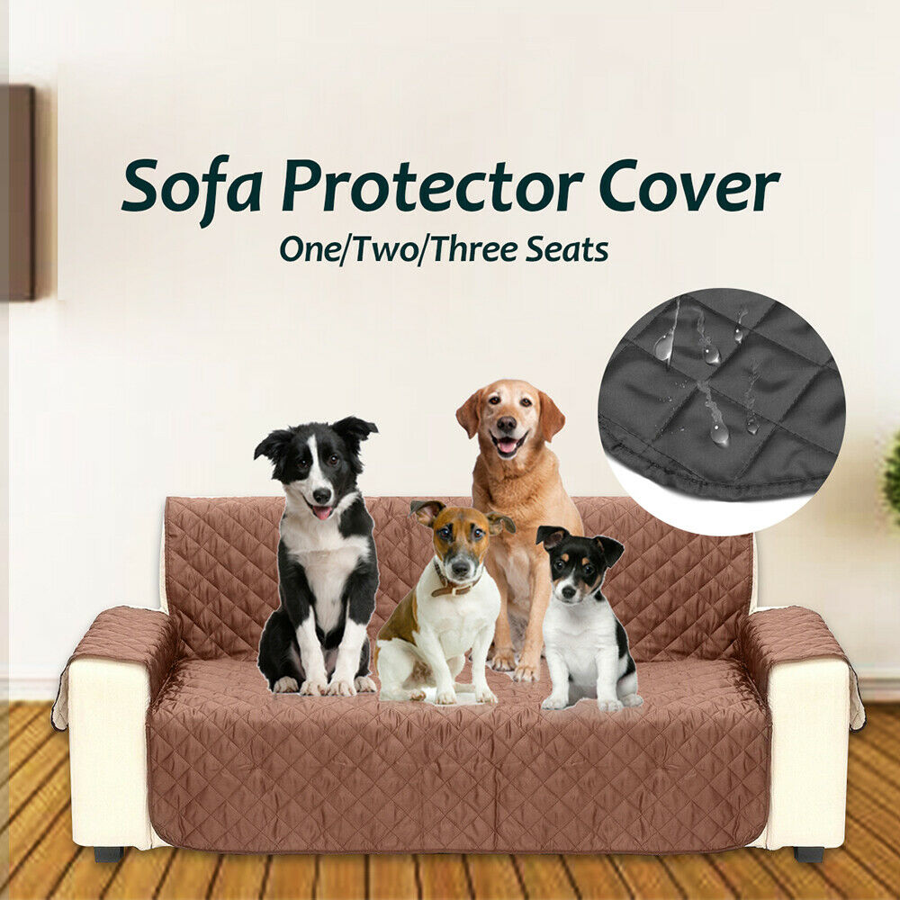 Waterproof Quilted Sofa Covers Anti-Slip Couch Recliner Slip