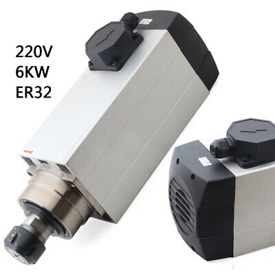 6000w Spindle Motor Er32 Air-cooled 120mm 18000rpm High Speed Cnc Router Milling